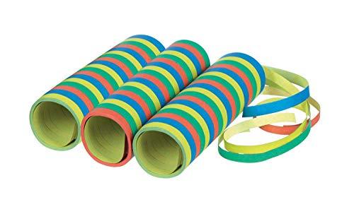 Amscan 9904637 - Luftschlangen, 3 Rollen mit jeweils 18 Röhrchen, Papier, Dekoration, Mottoparty, Karneval