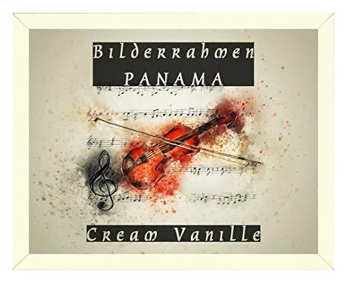 Homedecoratie fotolijsten Panama 100 x 140 cm in crème vanille met stevige 2 mm antireflecterende grootte keuze