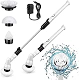 Electric Spin Scrubber, 360 Cordless Tub and Tile Scrubber, Multi-Purpose Power Surface Cleaner with 3 Replaceable Cleaning Scrubber Brush Heads, 1 Extension Arm and Adapter…