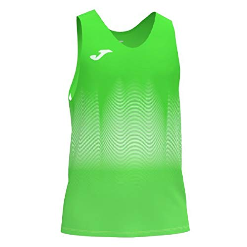 Joma Elite VII Camiseta Running sin Mangas, Niños, Verde Fluor, 2XS