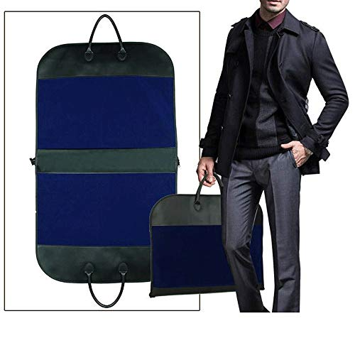 YLiansong-home Dustproof Clothes Covers Oxford Fabric Waterproof Hanging Garment Bags Cover with A Side Zip Pocket Moth Proof Coat Bag (Color : BLue, Size : 60 * 100CM)