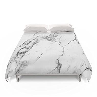 Society6 White Marble I Duvet Covers King: 104  x 88