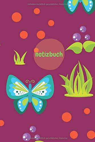 Notizbuch: A5 Blanko Schmetterlinge Lila Notizheft für Handlettering   100 Seiten Leer   Weißes Papier   Geschenk und Present für die Kollegen