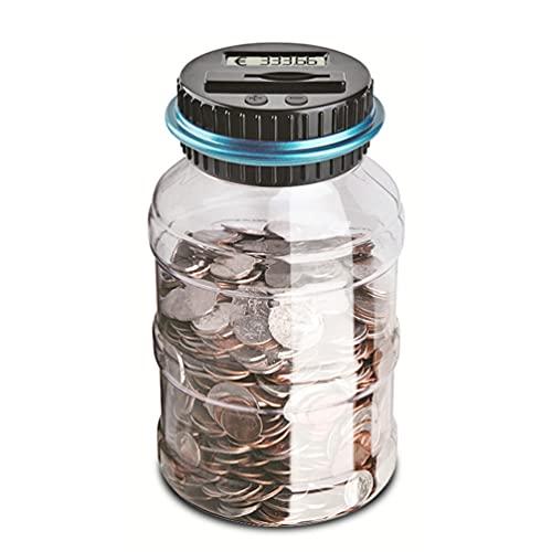 TOYANDONA 1Pcs Digital Coin Bank Jar Poupar Dinheiro Banco de Moeda Digital de Contagem Contagem Automática para Meninos Meninas Natal Presente De Aniversário ( EUR )