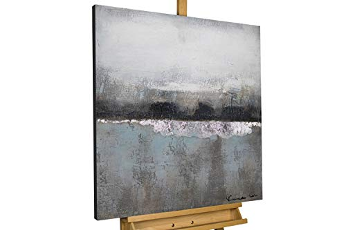 KunstLoft® Acryl Gemälde 'Nebelmeer' 80x80cm handgemalt Leinwand Bild