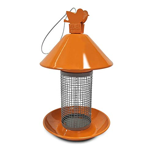 NEHARO Freundlicher Vogelfutter Outdoor Garten Metall Bird Feeder Pet Feeder Suspension Druck Hängende Futtern (Color : Multi-Colored, Size : Free Size)