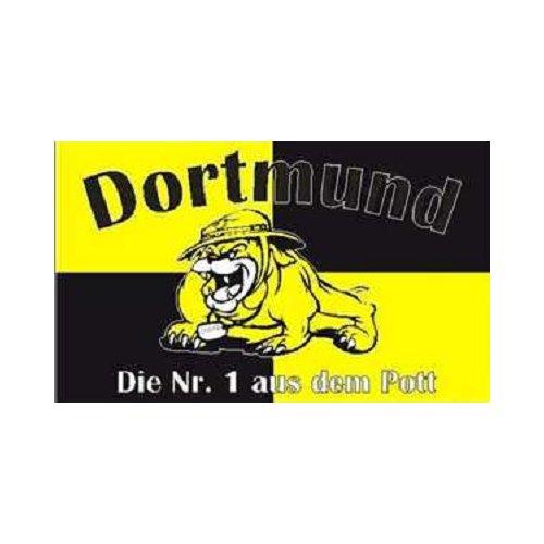 TS24direkt Dortmund Bulldogge - Die Nr.1 aus dem Pott Fahne (F47)