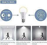4*E27 LED Glühbirne mit Radar Bewegungsmelder Smart licht Lichtsensor Radarsensor LED Birne,Tageslichtweiß 6500 K 7W ersetzt 50W Sensor Lampe Verwendet für Einbruchswarnung - 2