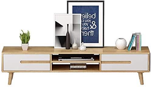 JPVGIA TV-Ständer Storage Console Multi Entertainment Media Console-Center Moderne Medien Cabinet Stand Tisch Couchtisch Studio Collection TV Media Medienmöbel Spielkonsole End Table Stand