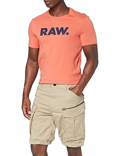 G-STAR RAW Rovic Zip Relaxed 1/2-length Shorts Pantaloncini, Beige (Dune 239), 33W Uomo