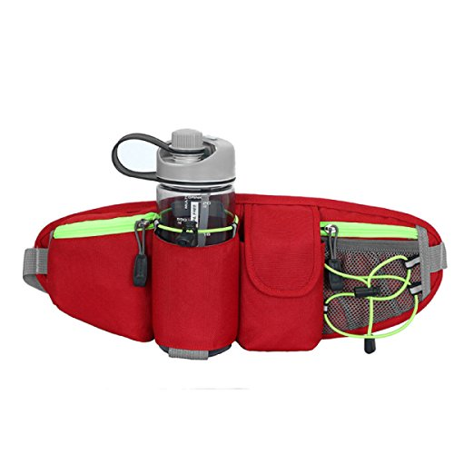 LYFLYF Multifonctionnel Sport Extérieur Nylon Imperméable à l'eau Alpinisme Cyclisme Masculin Et Féminin Universel équitation Waist Packs Sac,Red
