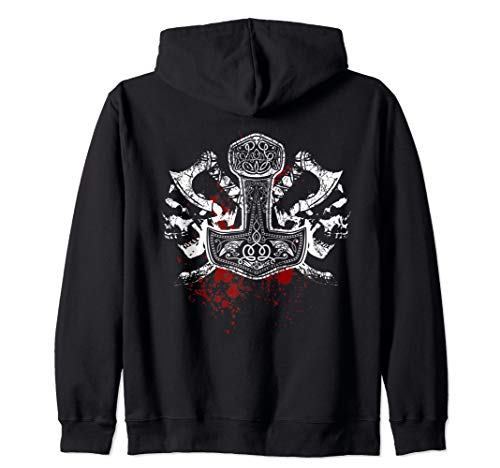 Thors Hammer, Hammer of Gods, Viking, Norse, Celtic Zip Hoodie