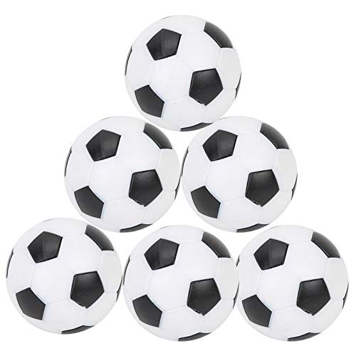 Pwshymi Pelotas de fútbol de Mesa de 6 Piezas, Pelotas de fútbol de Mesa, Mini Pelota de futbolín para Juego de fútbol de Mesa(6 Piezas)