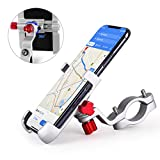homeasy Bike Phone Mount Universal, Bicycle Holder Handlebar Cellphone Adjustable Fall Prevention, Fits iPhone Xs|XS Max, XR, X, 8 | 8 Plus, Galaxy S9, Holds Phones from 3.5-7' Wide, Silver