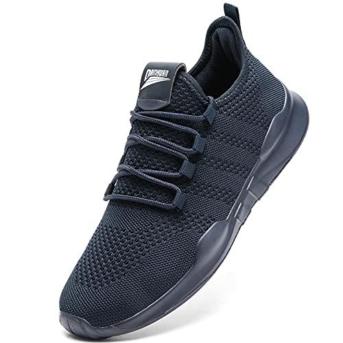 GHFKKB Laufschuhe Herren Turnschuhe Joggingschuhe Leichtgewichts Sneaker Tennisschuhe Fitness Trainingsschuhe Atmungsaktiv Sportschuhe Walking Schuhe Blau 43