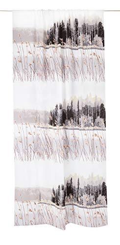Vallila HIljaisuus Black Out 140x250cm Powder Verdunkelung dimout Natur Bedruckte Design-Vorhang, Puder, 250cm x 140cm