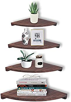 Set of 4 WGFKVAS Wall Mounted Corner Shelves