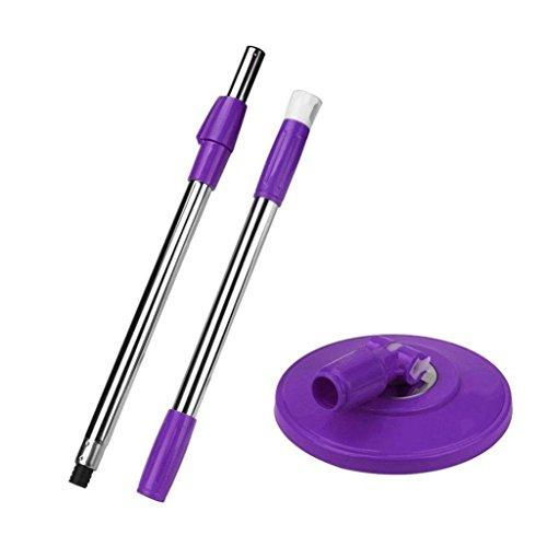 Good01 - Manico di ricambio per mocio rotante a 360 gradi, per strumento di pulizia, Purple, medium
