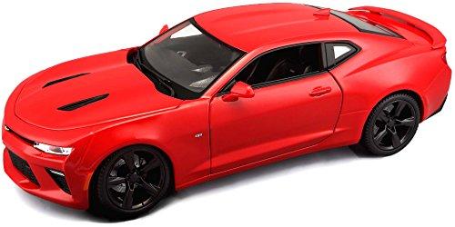 Maisto Chevrolet Camaro SS 'Bumblebee': modelauto met vering, schaal 1:18, deuren en motorkap beweegbaar, klaar model, bestuurbaar, 24 cm, rood