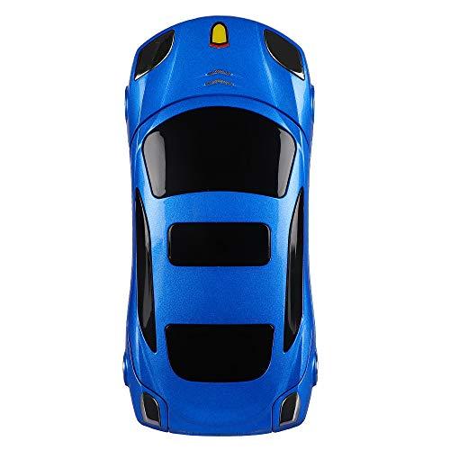 MTR Dual Sim Smartphone with Keypad Flip Phone of Car Shape Full Multimedia Mobile (Black)