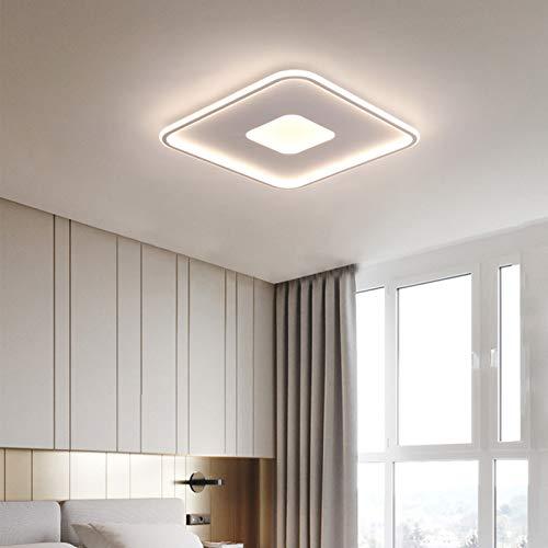 Lámparas de techo cuadradas regulables, luz de techo LED de acrílico, Plafón LED con luces cuadradas con control remoto para dormitorio, sala de estar, estudio, comedor