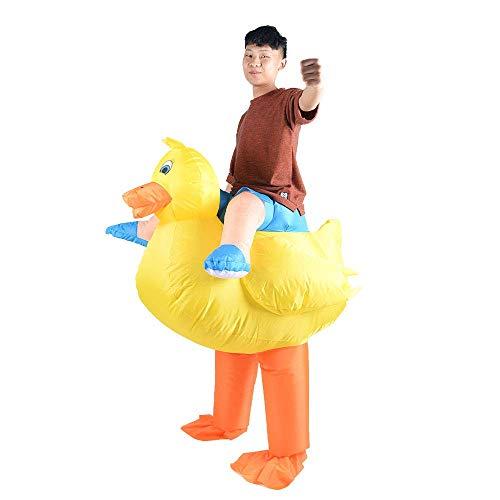 HAPPY WALK Costume da Anatra Gonfiabile per Adulti, Colore Giallo, per Halloween, Cosplay