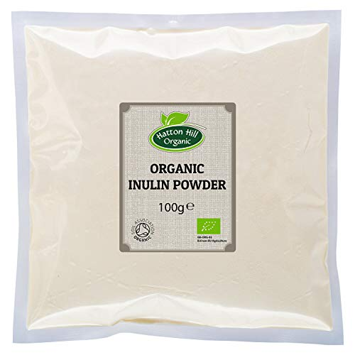 Organic Inulin Powder 100g by Hatton Hill Organic - Free UK Delivery