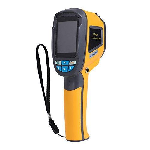 Värmekamera, HT-02D Infraröd värmekamera IR-upplösning 1024p 32x32 Upplösning Värmekamera 0,3 miljoner pixlar Testnoggrannhet -20 till + 300 ° C Frekvensbildupptagning 6 Hz, med väska