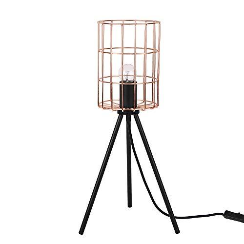 [lux.pro] Industriële tafellamp - Canberra - rose goud