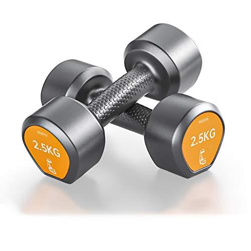 ZZL Mancuerna Aptitud Caucho Encased Hex Pesas en Pares con el Estante de Neopreno Peso de la Mano for el Entrenamiento de Fuerza, Entrenamiento de Cuerpo Entero Fitness (Peso : 6KG (3kg*2))
