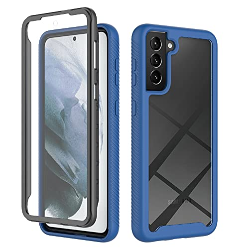 Compatible with Samsung Galaxy S21 Plus Case Clear Built in Screen Protector,Heavy Drop Protection with Hard PC Back and Soft TPU Edge,Full-Body Dual Layer Rugged Bumper Cases for Samsung S21+