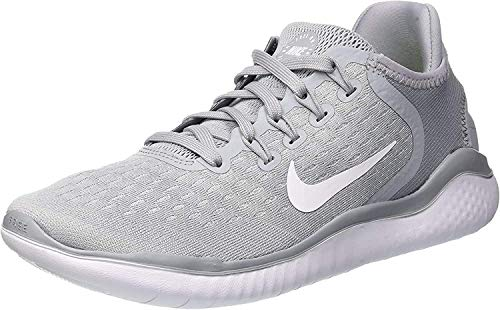 Nike Womens Flex 2017 Rn Low Top Slip On, Wolf Grey/White/Volt, Size 10.0