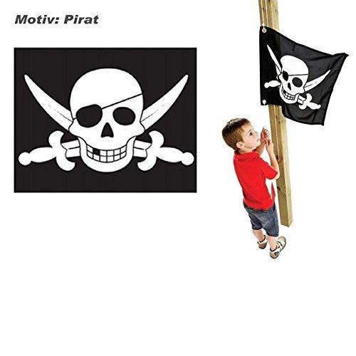 Kinder-Fahne Flagge Pirat mit Hiss-Seil