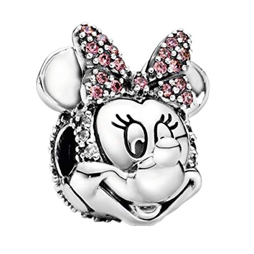 Annmors Abalorios Charms Colgantes de Disney Minnie Ratón Encanto Cuentas Plata de...