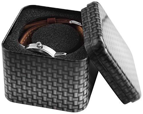 Uhrenetui Uhrenkasten Uhrenbox aus Metall für Armbanduhr Geschenketui Uhr