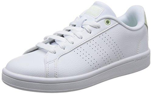 Adidas CF Advantage CL, Zapatillas de Deporte Mujer, Blanco (Ftwbla/Ftwbla/Aerver 000), 43 1/3 EU