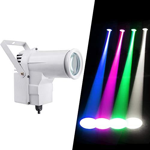 Led Pinspot, DMX 12w a todo color RGBW 4IN1 Punto de luz LED, uso para bola de espejos, escaparate en boutique, discoteca, salón de baile, KTV, bar, club, fiesta, bodas