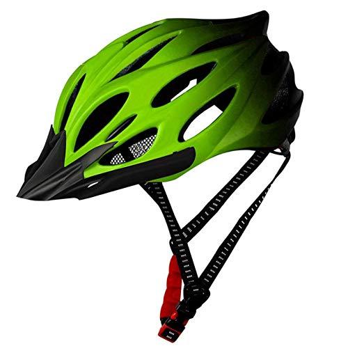 XIAOKUKU Adulto Cascos de Bicicletas, los Hombres y de Las Mujeres LED...