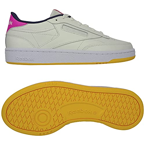 Reebok Club C 85 Shoes, Zapatos: Bajos (sin fútbol) Mujer, Chalk Chalk Atomic Pink, 36 EU
