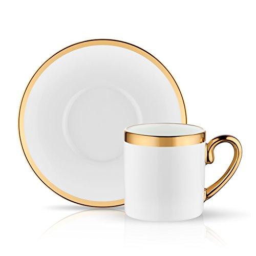 Koleksiyon Eva Türkisches Kaffee-/Mokka-Set, 6-teilig, Alt glänzend Gold Pr