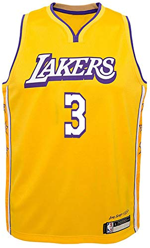 Outerstuff NBA Infants Toddler Official Name and Number Replica Home Alternate Road Player Jersey (2T, Anthony Davis Los Angeles Lakers Yellow City Edition)