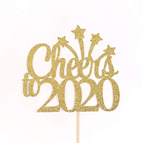 Cheers to 2020 Cake Topper, New Year Party Cake Topper, New Year Centerpiece, New Years Eve Cake Topper, Happy Holidays Cake Topper, NYE