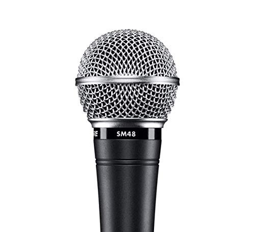 Shure SM48S-LC Vocal Dynamic Microphone, Cardioid