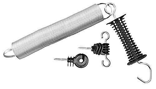 Kerbl 5 Stück Weidezaun Torgriff-Set bis max. 5 m ausziehbar inkl. Ring-und Torisolator