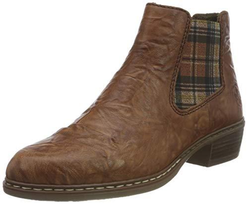 Rieker Damen Y0894 Chelsea-Stiefel, Cuoio Whisky Karo, 38 EU