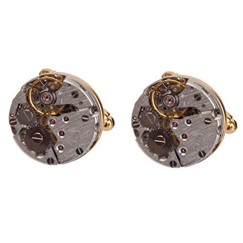 Homme Horloger Boutons de Manchette de Mariage Steampunk Cru