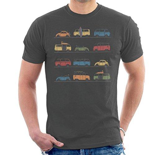 Volkswagen Vans and Beetles Men's T-Shirt Charcoal