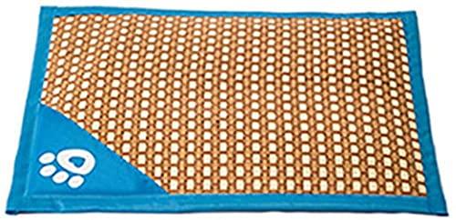 Alfombra Refrescante para Perros Gatos, Alfombrilla Refrescante para Mascotas Desodorante Antibacterianas Antimoho Antiácaros -Metro_Azul