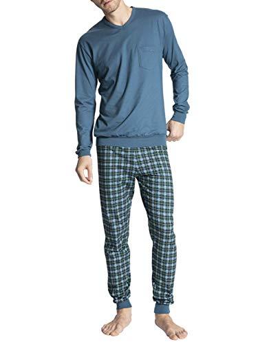 CALIDA Herren Relax Imprint 1 Pyjamaset, Blue Lake, LL