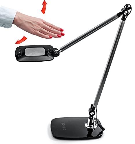 Otus architect desk lamp clamp - motion activated tall task light...